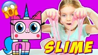 Юникитти Cлайм как сделать Лизун из Блесток DIY UNIKITTY Glitter Slime