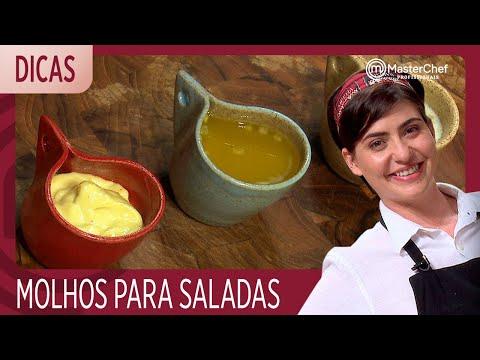 MOLHOS PARA SALADA Com Izabel | DICAS MASTERCHEF