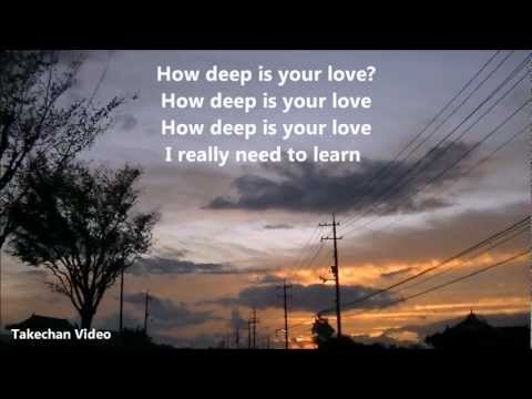 How Deep Is Your Love Hq Audio Lyrics The Bee Gees