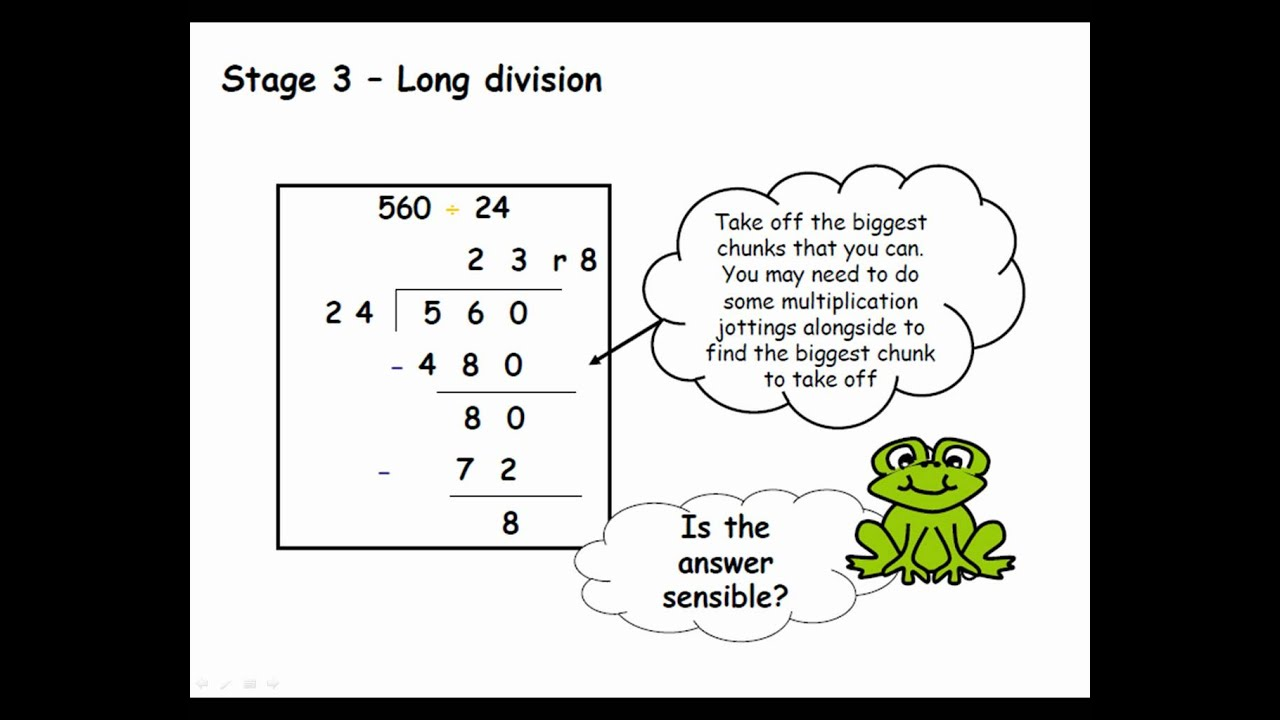 math worksheet : division  a guide for parents ks1 2 uk  youtube : Chunking Division Worksheets