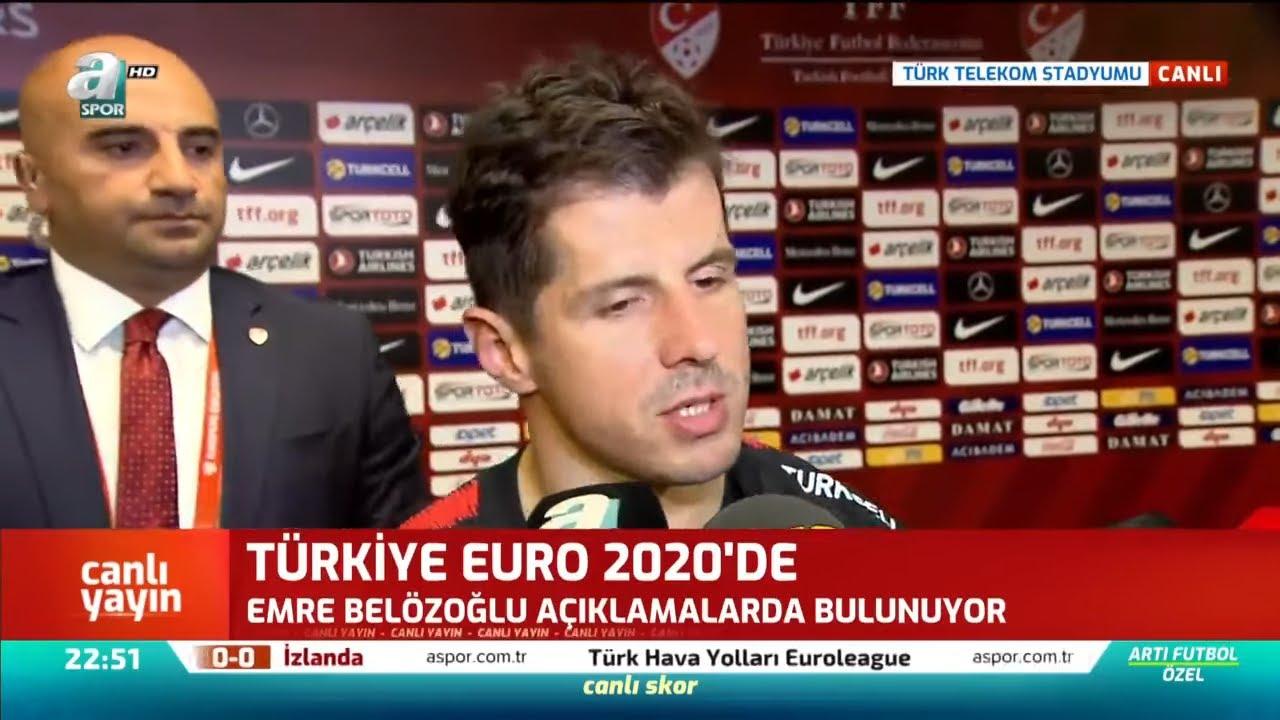 Emre Belözoğlu Maç Sonu Açıklamalarda Bulundu (Türkiye 0 - 0 İzlanda) / A Spor