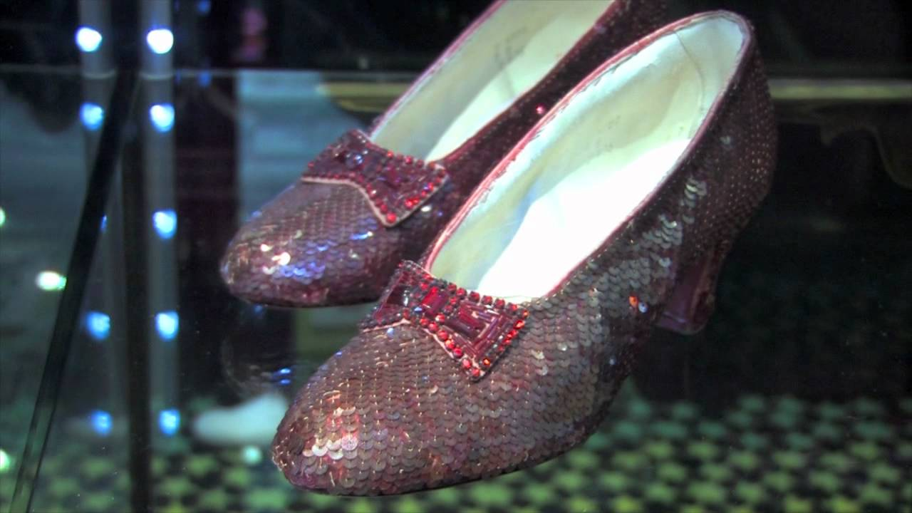 The Original Ruby Slippers Used For Close Up Shots In Wizard Of Oz