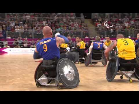 Wheelchair Rugby - SWE vs AUS - Mixed - Pool Phase Group B - London 2012 Paralympic Games