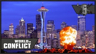 US Army Nukes Seattle - World in Conflict - Multiplayer 1v1 Gameplay