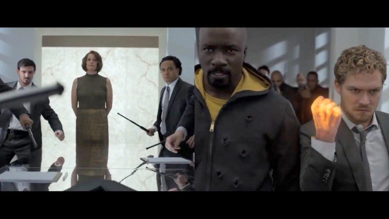 Download Pelea en el pasillo (parte 1) - Iron Fist y Luke Cage vs La Mano -  THE DEFENDERS 1X03