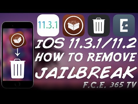 iOS 11.3.1/11.2 - How to REMOVE Electra Jailbreak (Unjailbreak) WITHOUT Restore / Update