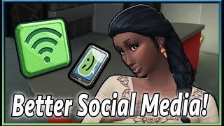 Social Media Mod! | The Sims 4 (by KawaiiStacie)