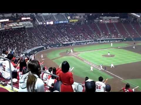 Hiroshima Baseball Game 2012 lively local supporte