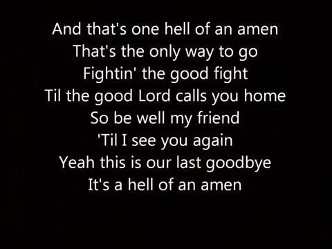 One Hell Of An Amen Brantley Gilbert Lyrics