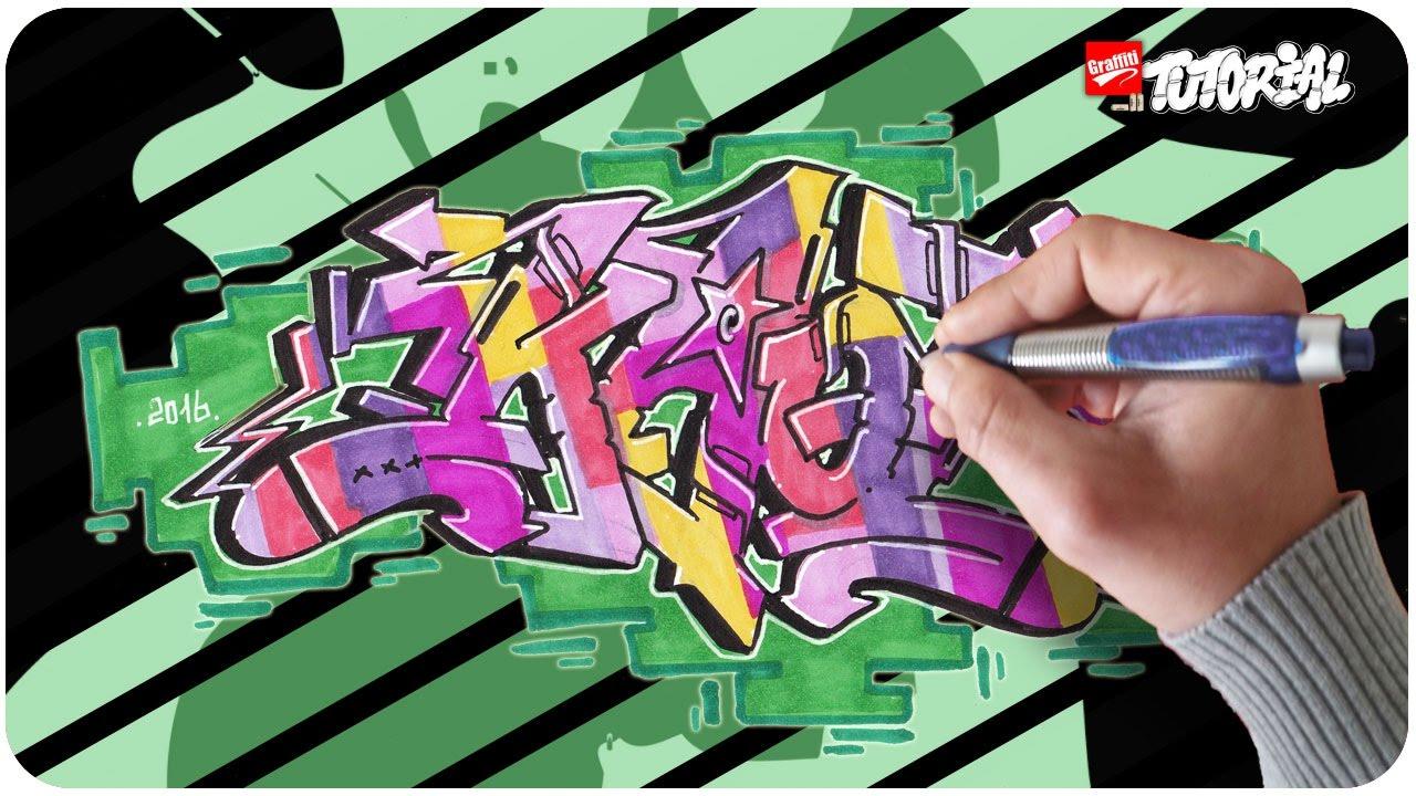 Graffiti Zeichnen Kaot Funky Style Schritt Für Schritt