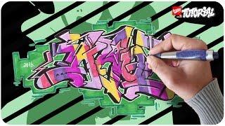 Graffiti zeichnen - KAOT Funky Style Schritt für Schritt