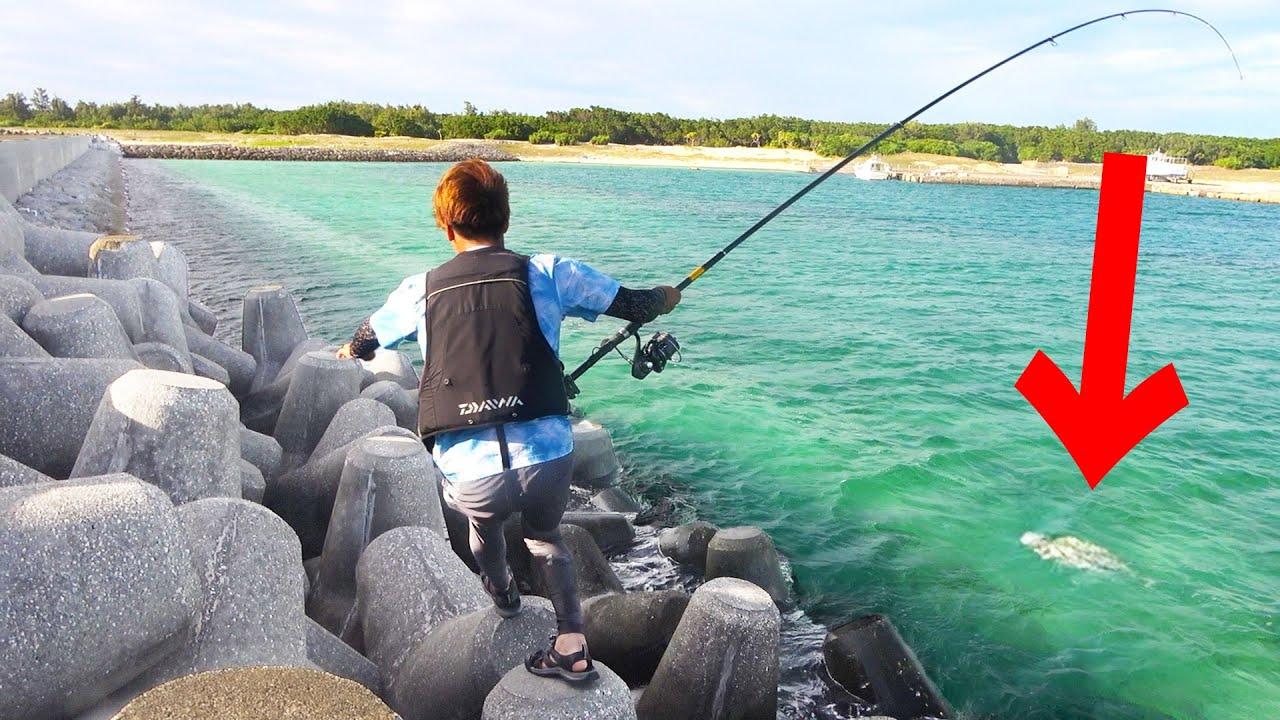 テトラポットを走り回ってデカい魚を釣り上げろ!【宮古vs石垣釣り対決#3】