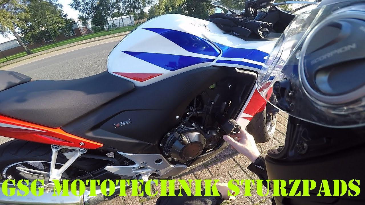 GSG Mototechnik Sturzpads an der Honda CBR500R (Deutsch) | Piotrrr ...