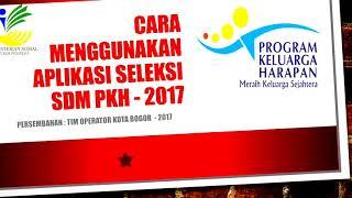 Petunjuk Pengisian Seleksi Sdm Pkh 2016