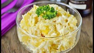 Салат с ананасами и крабовыми палочками! Крабовый салат рецепт