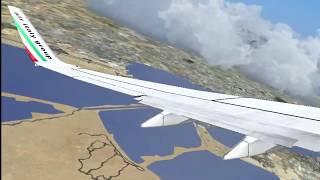 Air Italy 737-700 PMDG Takeoff Cagliari [FSX]