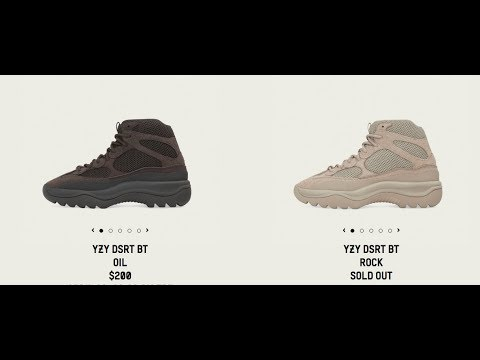 Adidas X Yeezy Desert Boot Rock Drop Today 4 13 2019 Sold Out