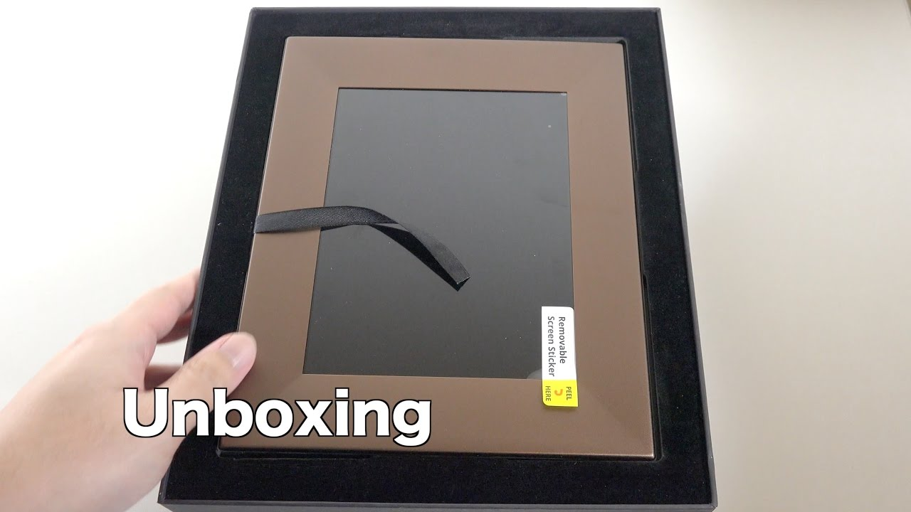 "Nixplay Iris 8"" Wi-Fi Cloud Digital Photo Frame Unboxing"