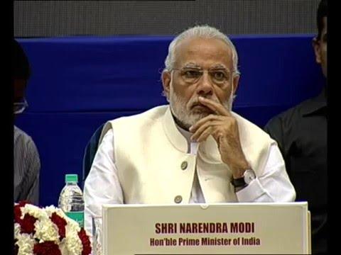 PM Modi at the launch of Setu Bharatam Project in Vigyan Bhavan, New Delhi