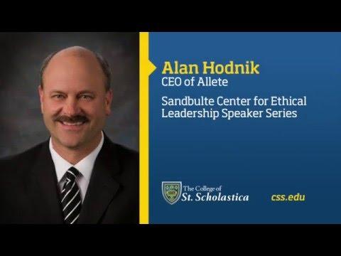 Sandbulte Center for Ethical Leadership Speaker Series: Alan Hodnik