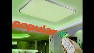 Светодиодный  потолочный  светильник(Светодиодный потолочный светильник имеет 4 режима, холодный белый,теплый белый,зеленоватый,полутемный!Обя..., 2017-01-06T02:10:08.000Z)