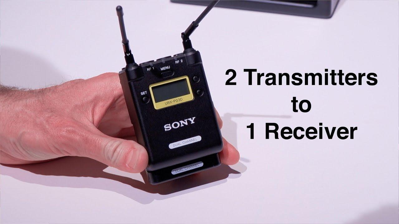 Sony Wireless Audio 2 Mics 1 Receiver Urx-p03d