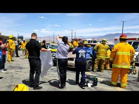 Trona fire dept demonstration at Trona high school 2016.