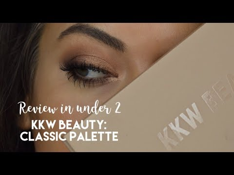 Review in Under 2 - KKW BEAUTY Classic Eyeshadow palette thumbnail