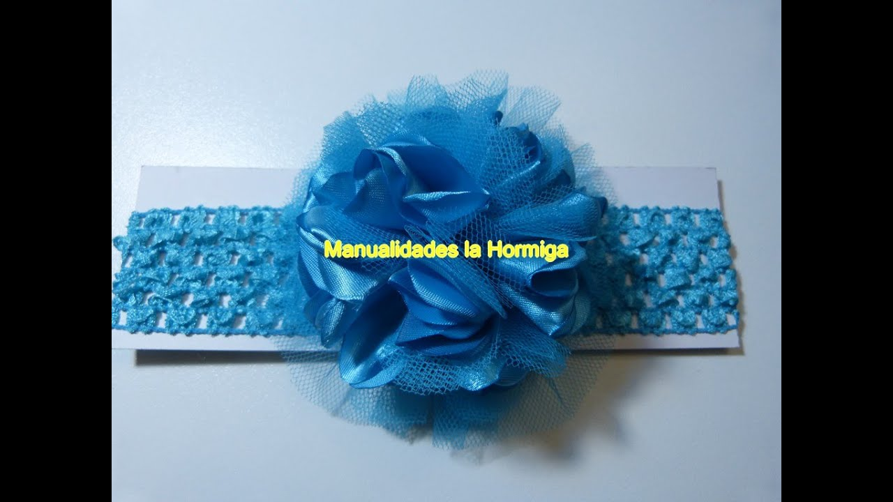 Mo os redondos pom pom tela satin y tull para decorar for Diademas de tela para el cabello