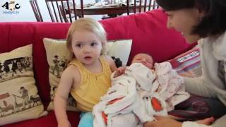Kids meet Baby for the first time Compilation