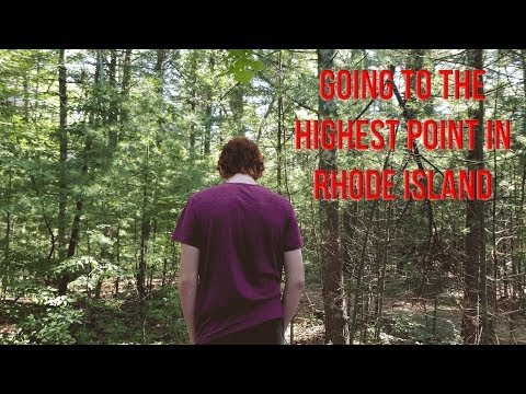 GOING TO THE HIGHEST POINT IN RHODE ISLAND - Jerimoth Hill, RI