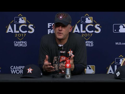 ALCS Gm7: Hinch on advancing to the World Series