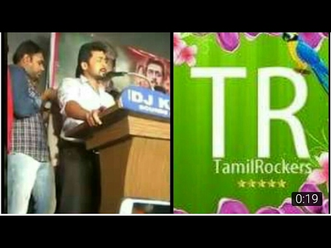 Actor Surya Warning To Tamil Rockers