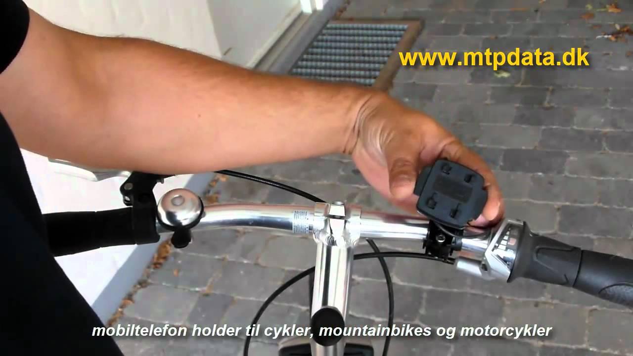 Rørig Mobiltelefon Holder med 4 QuickFix system til cykel , motorcykel BO-76