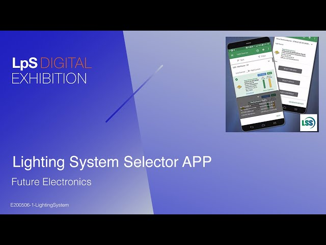 Lighting System Selector APP - Tutorial by Future Electronics