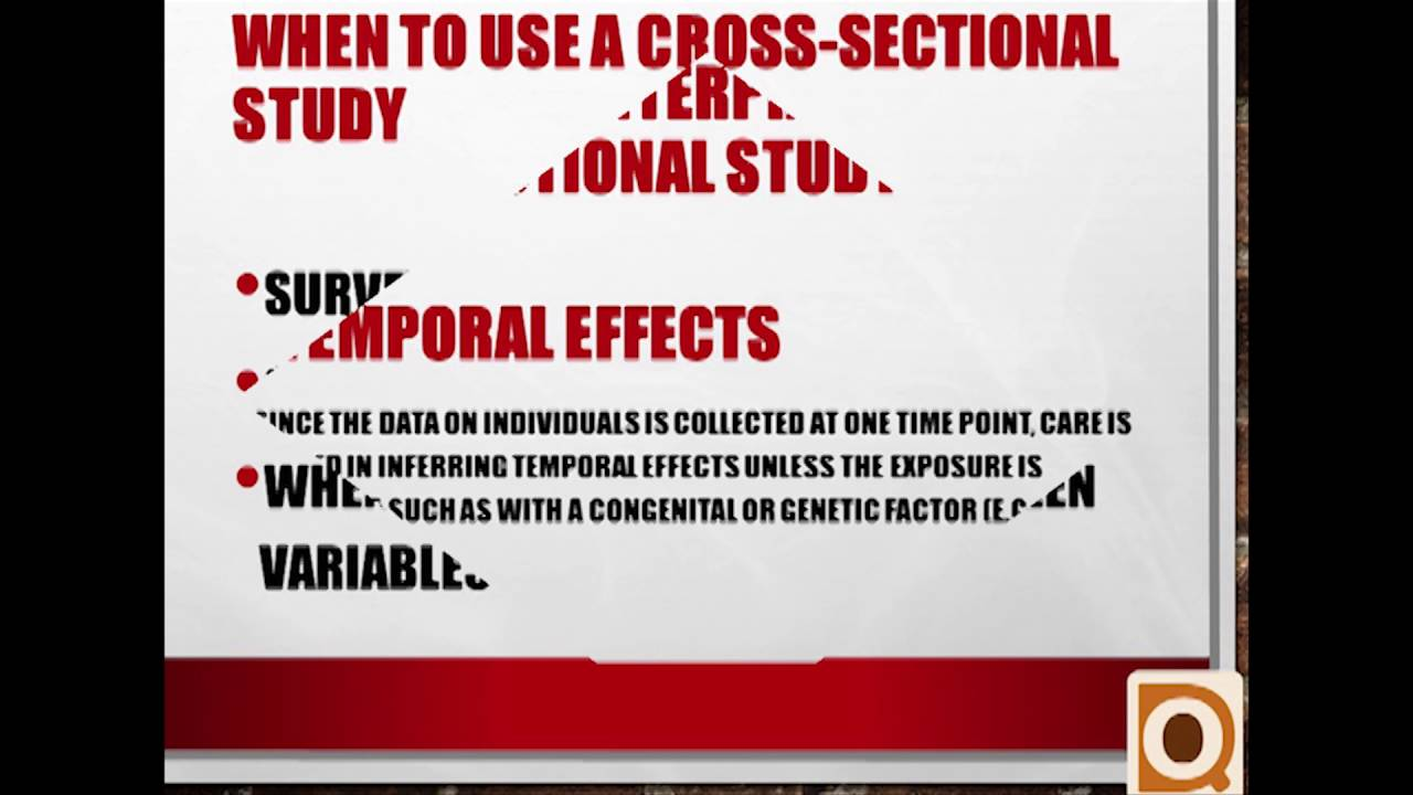 Cross Sectional Study Design - YouTube