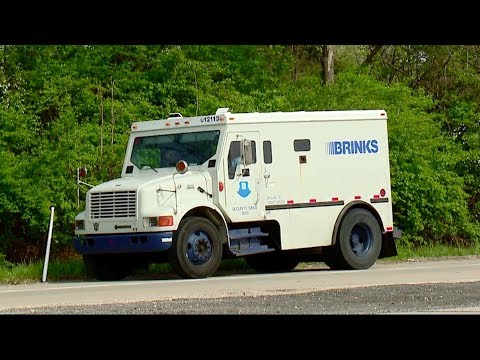 Money Flies Out Of Brinks Armored Truck On Indiana Highway