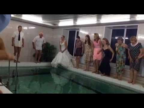 Pool Jump - P&P's Russian wedding