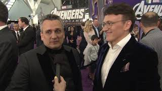 Avengers: Endgame World Premiere || Joe Russo And Anthony Russo Soundbite || #SocialNews.XYZ