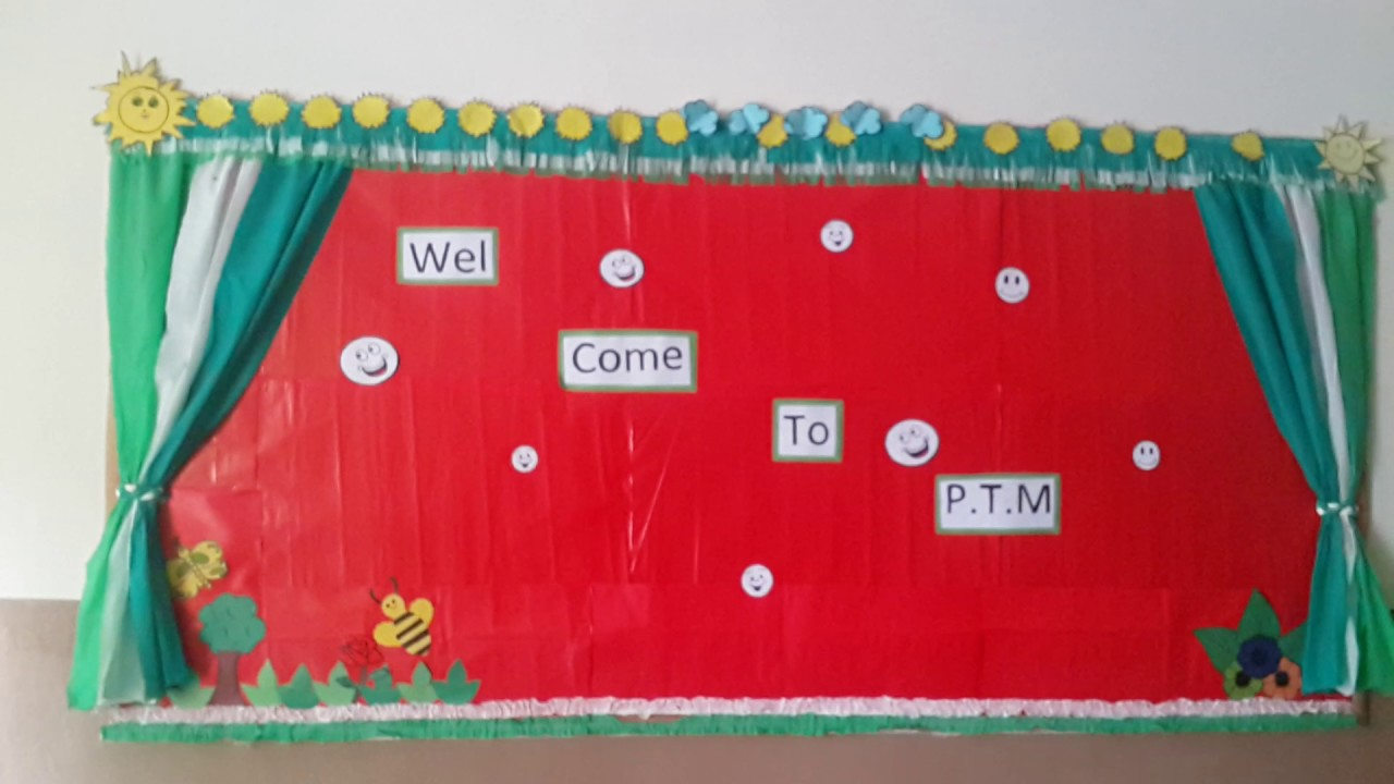 Decoration of classroom softboard 2017 youtube for Decoration board