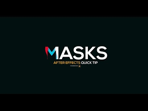 How to make text a mask in after effects