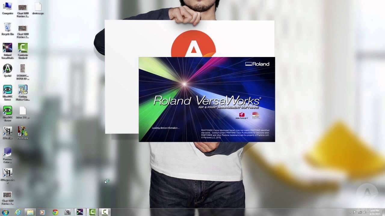 Téléchargement d'un profil multimédia Arlon dans Roland VersaWorks