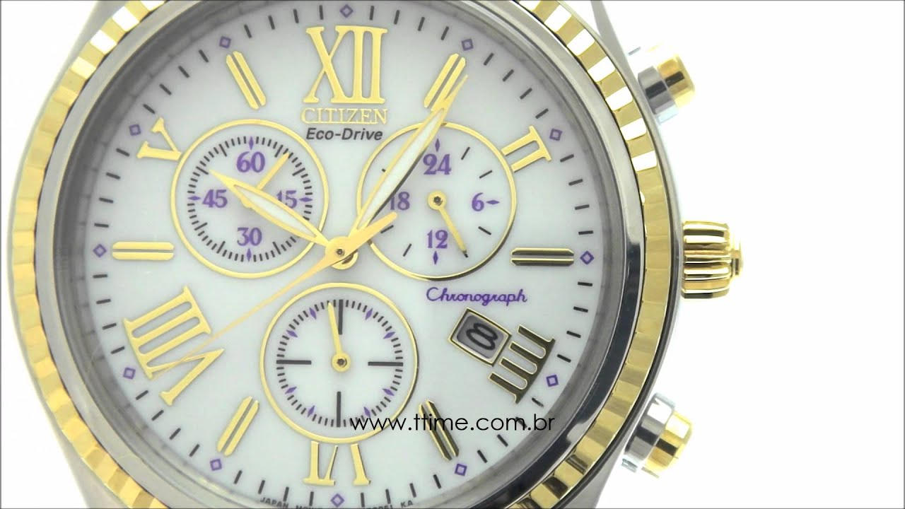 7322d7bbcb8 RELÓGIO CITIZEN ECO-DRIVE FEMININO TZ20171B - FB1364-53A - YouTube