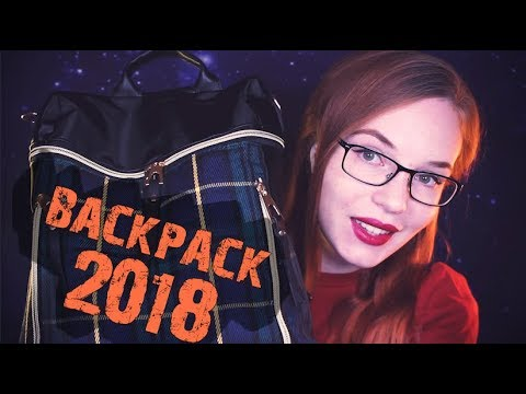 ASMR What's In My Backpack - School Supplies, Rummaging, Whisper, 10+ Triggers