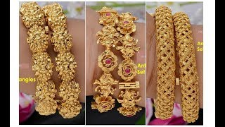 New Collections of Gold Bangles || Antique Bangle Designs  || Bridal Bangles