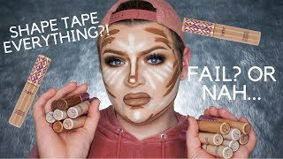 One of makeupbyjaack's most viewed videos: FULL FACE USING ONLY SHAPE TAPE CONCEALER!! | Jack Emory