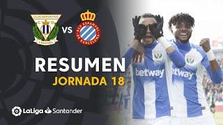 Resumen de CD Leganés vs RCD Espanyol (2-0)