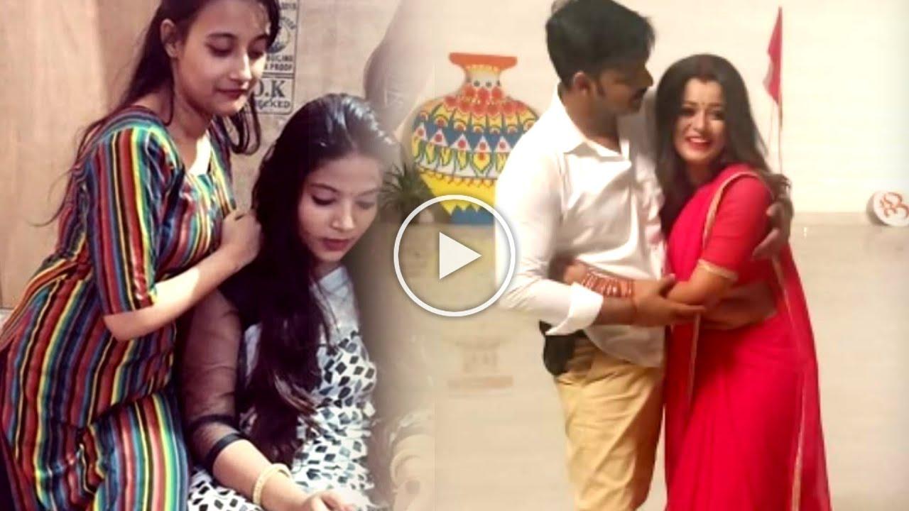 Download #Video Pawan Singh की पत्नी Jyoti Singh पहुंची  Chandni Film की सेट पर -देखे केसा हुआ उनका स्वागत -
