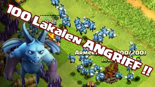 100 Lakaien Angriff !! | CLASH OF CLANS | Let's Play CoC [Deutsch/German Android iOS PC HD]