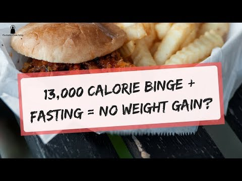 13,000 Calorie Binge + Fasting = No Weight Gain? (10lbs Weight Gain & Loss)